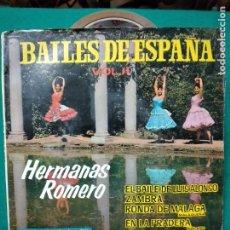Discos de vinilo: BAILES DE ESPAÑA VOL.II HERMANAS ROMERO. EL BAILE DE LUIS ALONSO +3 EP BELTER.. Lote 277137288
