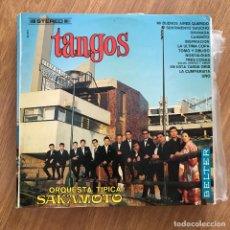 Discos de vinilo: ORQUESTA TÍPICA SAKAMOTO - TANGOS - LP BELTER 1967. Lote 277138603
