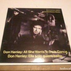 Discos de vinilo: DON HENLEY MAXI SINGLE ESP.1985. Lote 277141638