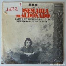 Discos de vinilo: JOSE MARIA MALDONADO // CARTA A UN HERMANO EN EL EXILIO // 1977 // SINGLE. Lote 277142968