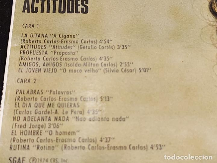 Discos de vinilo: ROBERTO CARLOS / ACTITUDES / LP - CBS-1974 / MBC. ***/*** - Foto 3 - 277146418
