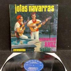 Discos de vinilo: HERMANOS ANOZ / JOTAS NAVARRAS / LP - BELTER-1966 / MBC. ***/***. Lote 277149503