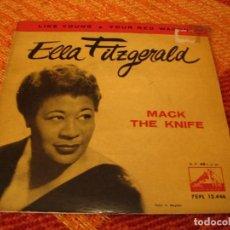 Discos de vinilo: ELLA FITZGERALD EP 45 RPM MACK THE KNIFE LA VOZ DE SU AMO ESPAÑA 1960. Lote 277154513