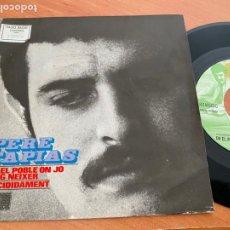 Discos de vinilo: PERE TAPIAS (EN EL POBLE ON JO VAIG NEIXER) SINGLE 1969 PROMO (EPI24). Lote 277156108