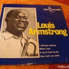 Discos de vinilo: LOUIS ARMSTRONG EP 45 RPM I STILL GET JEALOUS KAPP RECORDS ESPAÑA 1964 LAMINADA. Lote 277156493