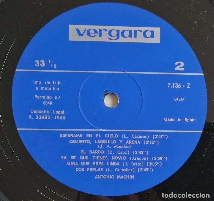 Discos de vinilo: Antonio Machin, Antonio Machin, Vergara 7.136-Z, 7136-Z - Foto 6 - 277156593