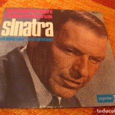 Discos de vinilo: FRANK SINATRA EP 45 RPM SOFTLY AS I LEAVE YOU REPRISE ESPAÑA 1964 LAMINADA. Lote 277156963