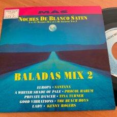 Discos de vinilo: NOCHES BLANCO SATEN BALADAS SANTANA PROCOL HARUM BEACH BOYS MIX 2 SINGLE PROMO (EPI24). Lote 277158143