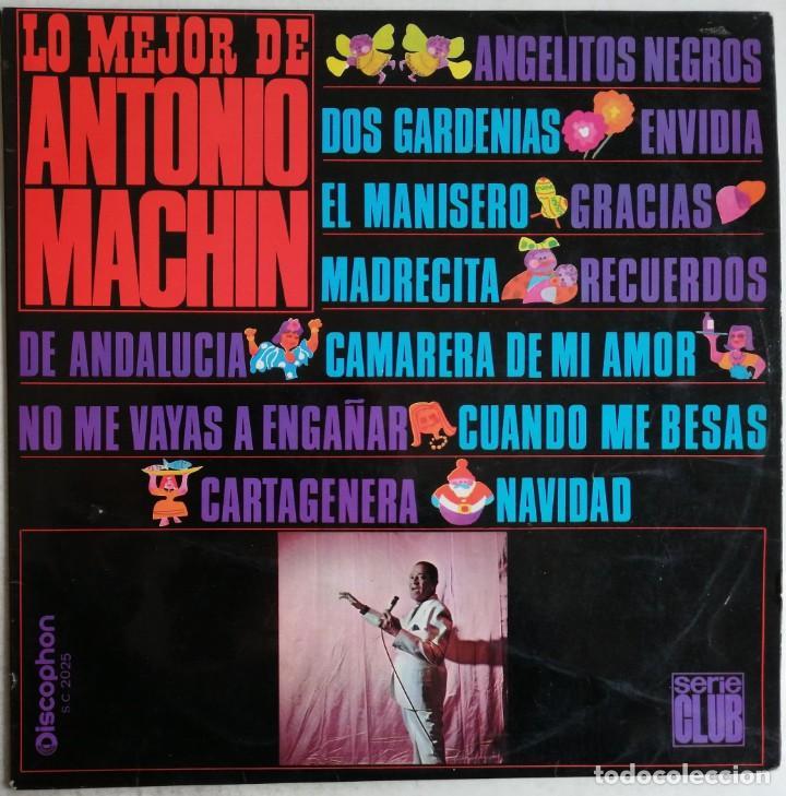 ANTONIO MACHIN, LO MEJOR DE ANTONIO MACHIN, DISCOPHON S.C. 2.025, 2.025 (Música - Discos - LP Vinilo - Grupos y Solistas de latinoamérica)