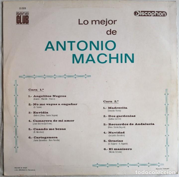 Discos de vinilo: Antonio Machin, Lo Mejor De Antonio Machin, Discophon S.C. 2.025, 2.025 - Foto 2 - 277158773