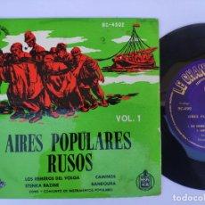 Discos de vinilo: EP AIRES POPULARES RUSOS - LOS REMEROS DEL VOLGA. Lote 277159273