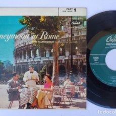Discos de vinilo: EP RENATO CAROSONE - HONEYMOON IN ROME. Lote 277159438