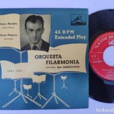Discos de vinilo: EP ORQUESTA FILARMONIA - DANZA MACABRA. Lote 277159538