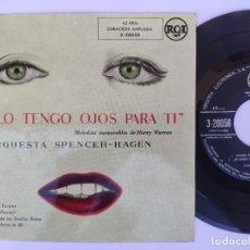 Discos de vinilo: EP ORQUESTA SPENCER - HAGEN - SOLO TENGO OJOS PARA TI. Lote 277159678