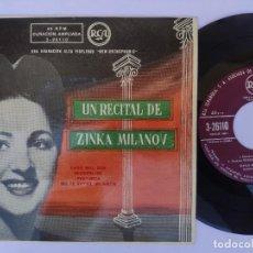 Discos de vinilo: EP ZINKA MILANOV - CARO MIO, BEN. Lote 277159708