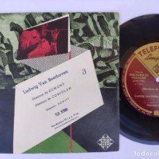 Discos de vinilo: EP LUDWIG VAN BEETHOVEN - OBERTURA DE EGMONT. Lote 277159748