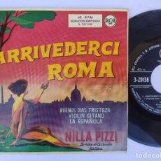 Discos de vinilo: EP NILA PIZZI - ARRIVEDERCI ROMA. Lote 277159813