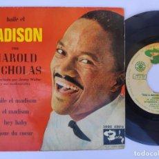 Discos de vinilo: EP HAROLD NICHOLAS - BAILE EL MADISON. Lote 277159888