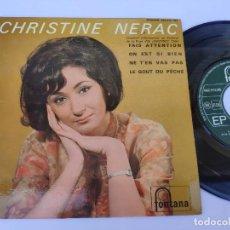 Discos de vinilo: EP CHRISTINE NERAC - FAIS ATTENTION. Lote 277159923