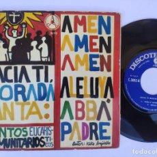 Discos de vinilo: EP KIKO ARGUELLO - HACIA TI MORADA SANTA - CANTOS EUCARÍSTICOS COMUNITARIOS. Lote 277160048