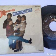 Discos de vinilo: EP THE MONKEES - HEADQUARTERS - NO ME DIJISTE / NO TIME / LA CHICA ALEGRE / AMANECER TRISTE. Lote 277160158