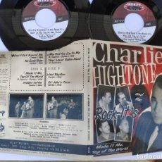 Discos de vinilo: DOBLE SINGLE CHARLIE HIGHTONE - ROCK - IT' S. Lote 277160223