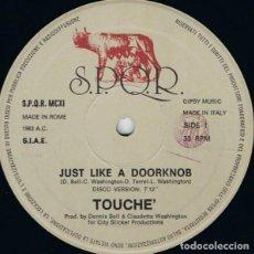 """Discos de vinilo: TOUCHÉ (4) - JUST LIKE A DOORKNOB (12""""). Lote 277162303"""