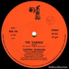 """Discos de vinilo: 'LECTRIC WORKERS FEATURING FUNNY RANDON - THE GARDEN (12"""", SINGLE). Lote 277162653"""