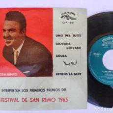 Discos de vinilo: RICARDO CREDI - EP SPAIN PS - MINT * UNO PER TUTTE / RETIENS LA NUIT + 2 * CUBALEGRE CEP-1507 * 1963. Lote 277166383