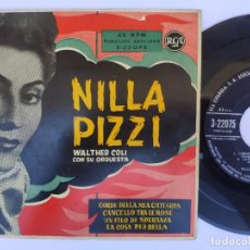 Discos de vinilo: NILA PIZZI - EP SPAIN PS - EX * ORQ. WALTHER COLI * CORDE DELLA MIA CHITARRA + 3. Lote 277168328