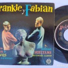 Discos de vinilo: FRANKIE Y FABIAN - EP SPAIN PS - EX+ * 1959 * VENUS / SIN DINERO / SUELTAME + 1 * HELIODOR 46 3024 *. Lote 277169123