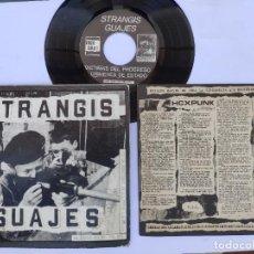 Discos de vinilo: STRANGIS GUAJES - EP SPAIN PS - MINT * CON LIBRETO * VICTIMAS DEL PROGRESO / CRIMENES DE ESTADO. Lote 277169818