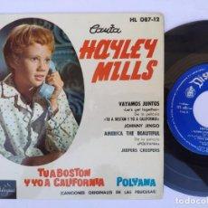 Discos de vinilo: HALLEY BILLS - EP SPAIN PS - VAYAMOS JUNTOS + 3 * DISNEYLAND HL 087-12. Lote 277171108