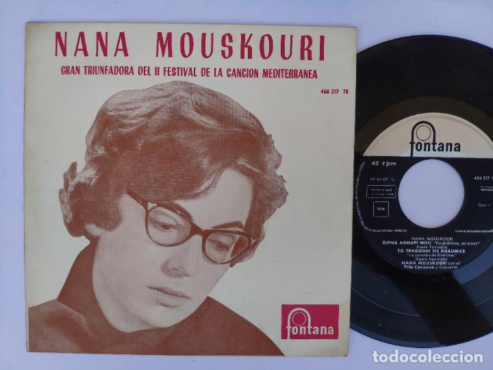 NANA MOUSKOURI - EP SPAIN PS - MINT * GRAN TRIUNFADORA FESTIVAL CANCIÓN MEDITERRÁNEA * 1960 (Música - Discos de Vinilo - EPs - Otros Festivales de la Canción)