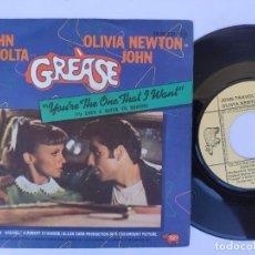 Discos de vinilo: JOHN TRAVOLTA / OLIVIA NEWTON JOHN - 45 SPAIN PS - MINT * OST GREASE. Lote 277177953