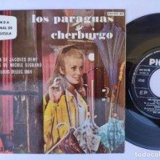 Discos de vinilo: OST LOS PARAGUAS DE CHERBURGO - EP SPAIN PS - MINT * EN EL MUELLE. Lote 277179903