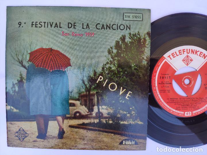 PIOVE - EP SPAIN PS - MINT * 9ª FESTIVAL DE LA CANCIÓN - SAN REMO 1959 (Música - Discos de Vinilo - EPs - Otros Festivales de la Canción)