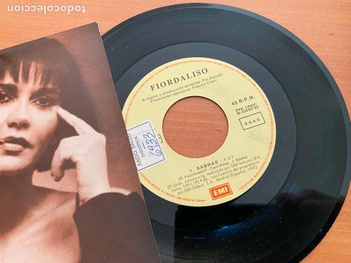 Discos de vinilo: FIORDALISO (SABRAS) SINGLE 1992 ESPAÑA PROMO (EPI24) - Foto 2 - 277186398