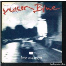 Discos de vinilo: DEACON BLUE - LOVE & REGRET - SINGLE 1989 - PROMO. Lote 277186763