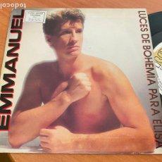 Discos de vinilo: EMMANUEL (LUCES BOHEMIA PARA ELISA) SINGLE 1987 ESPAÑA PROMO (EPI24). Lote 277187418
