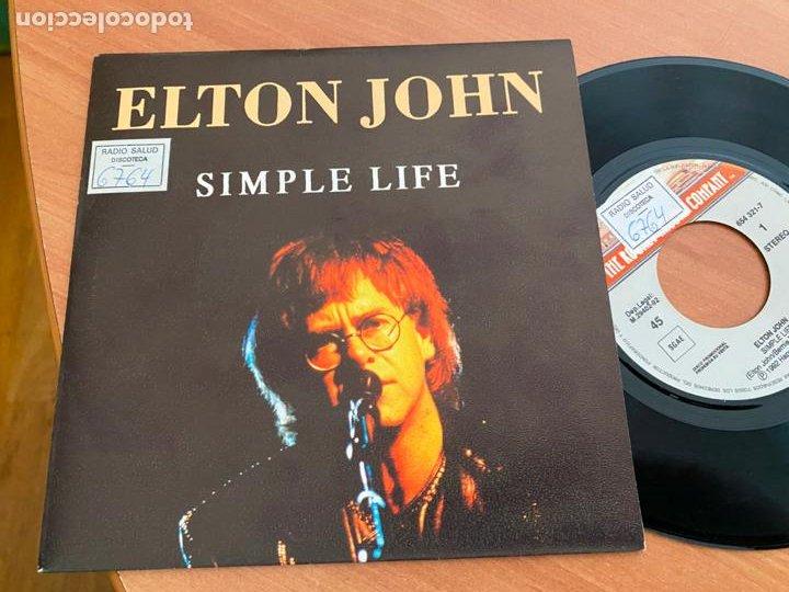 ELTON JOHN (SIMPLE LIFE) SINGLE 1992 ESPAÑA PROMO (EPI24) (Música - Discos - Singles Vinilo - Pop - Rock Internacional de los 90 a la actualidad)