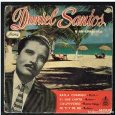 Discos de vinilo: DANIEL SANTOS - BAILA CONMIGO / EL QUE CANTA + 2 - EP 1959 - SOLO PORTADA, SIN VINILO. Lote 277193143