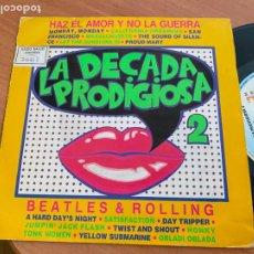Discos de vinilo: LA DECADA PRODIGIOSA 2 MEDLEY BEATLES AND ROLLING COVER. SINGLE 1987 (EPI24). Lote 277198088