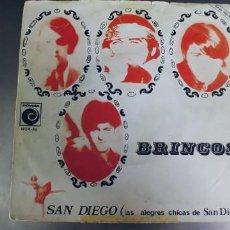 Discos de vinilo: LOS BRINCOS-SINGLE SAN DIEGO. Lote 277200733