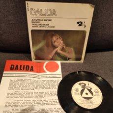 Discos de vinilo: RARO EP PROMOCIONAL DALIDA, JE T'APPELLE ENCORE +3, 1966. Lote 277201043