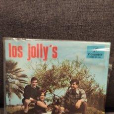 Discos de vinilo: RARO EP PROMOCIONAL LOS JOLLY'S, MIRZA+3, 1966. Lote 277201203