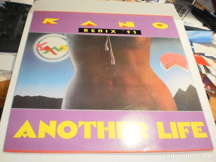MAXI SINGLE KANO. ANOTHER LIFE. REMIX '91. BLANCO Y NEGRO 1991 SPAIN (PROBADO, BIEN, SEMINUEVO) (Música - Discos de Vinilo - Maxi Singles - Grupos Españoles de los 90 a la actualidad)
