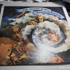 Discos de vinilo: LP THE MOODY BLUES. QUESTION OF BALANCE. THRESHOLD 1970 ENGLAND (PROBADO, BIEN, BUEN ESTADO). Lote 277213653