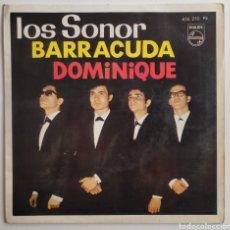 """Discos de vinilo: LOS SONOR - DOMINIQUE 7"""" EP 1964 RARO!! GARAGE BEAT ROCK N ' ROLL. Lote 277213753"""