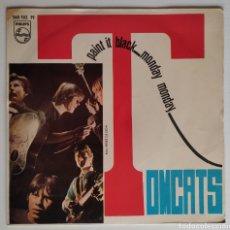 """Discos de vinilo: THE TOMCATS -PAINT IT BLACK / MONDAY MONDAY -1967 7"""" GARAGE - ROLLING STONES. Lote 277213768"""